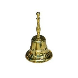 Campana 65x135 mm, de bronce macizo con mango