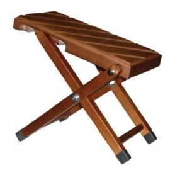 Banquito apoyapiés de madera, plegable