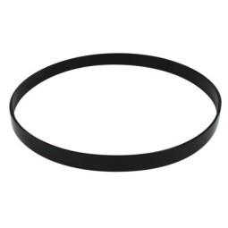 """Pandero naranja de piel Ø20.3 cm/8"""""""